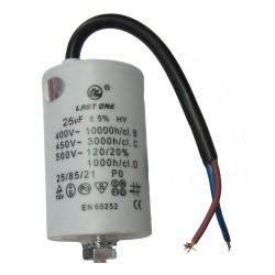 CONDENSADOR BIPOLAR 40MF - 450V - CON CABLE  40MF CC