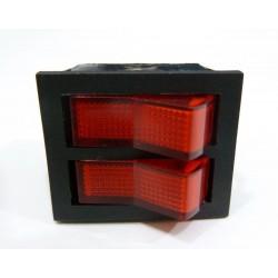 Interruptor luminoso rojo 2 pulsadores 6 faston 14AG007