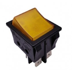 Interruptor bipolar amarillo 4 contactos 14AG013