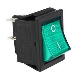 Interruptor bipolar  verde 16A 4 Fastón 14AG018
