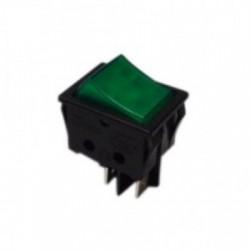 Pulsador bipolar verde 4 contactos 14AG051