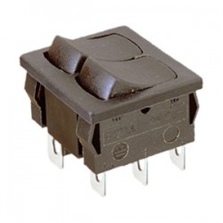 Doble interruptor, color negro 49HF100