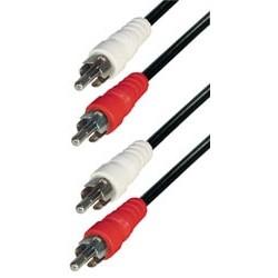 Cable 2 rca macho - 2 rca macho 1,5m E-A3