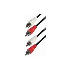 Cable 2 rca macho - 2 rca macho 2,5m  E-A4