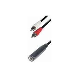 Cable 2 rca m - jack h 6,3 st 0,2m A43