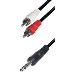 Cable 2rca m - jack m 6,3 st 1,5m A60