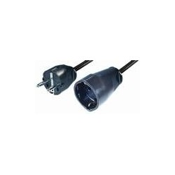 Cable prolongador schuko negro 3X1,5mm2 NV8-3H