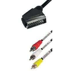 Cable euro a 3 x rca macho 2m V75