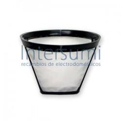 Filtro cafetera universal, metalico, nº 4. (11cm d iametro X 8,5cm alto) 120UN0214