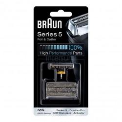 Lámina y cuchilla Braun 51S - 8000 series plata 81626279