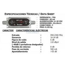 AMPLIFICADOR FI LINEA TECATEL 950-2400 16-24dB AMP-LINFI
